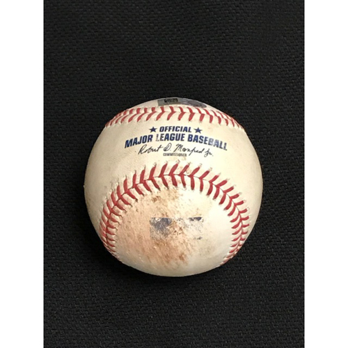 Game-Used Baseball 8/4/20 Houston Astros at Arizona Diamondbacks: Taylor Widener vs. Carlos Correa (Singled to Right Fielder Jon Jay)