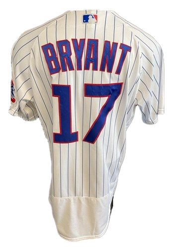 Photo of Kris Bryant Game-Used Jersey -- Brewers vs. Cubs -- 4/25/21 -- Size 46T +0.5S