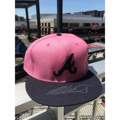 Photo of Mike Soroka Autographed MLB New Era Pink Cap