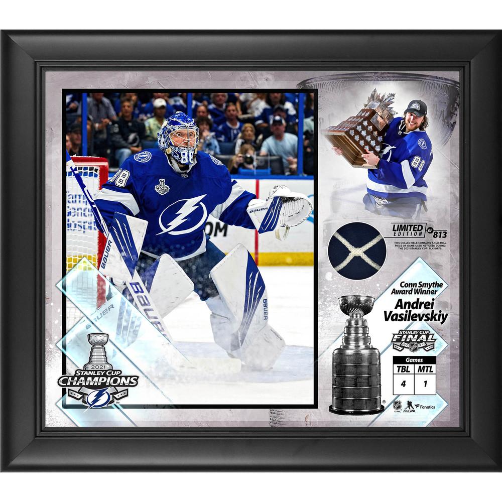 Andrei Vasilevskiy Tampa Bay Lightning 2021 Stanley Cup Champions Framed 15