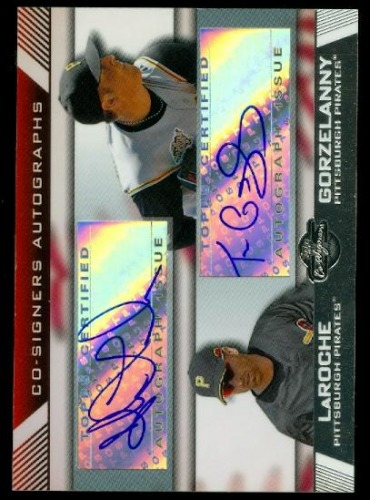 Photo of 2007 Topps Co-Signers Dual Autographs #LG Adam LaRoche/Tom Gorzelanny A