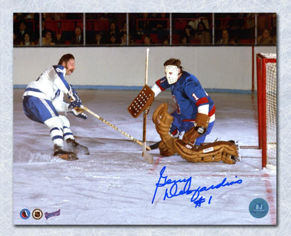 Gerry Desjardins New York Islanders Autographed Goalie 8x10 Photo