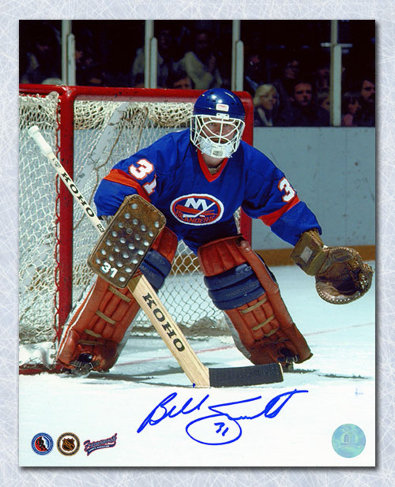 Billy Smith New York Islanders Autographed Goalie Game Action 8x10 Photo