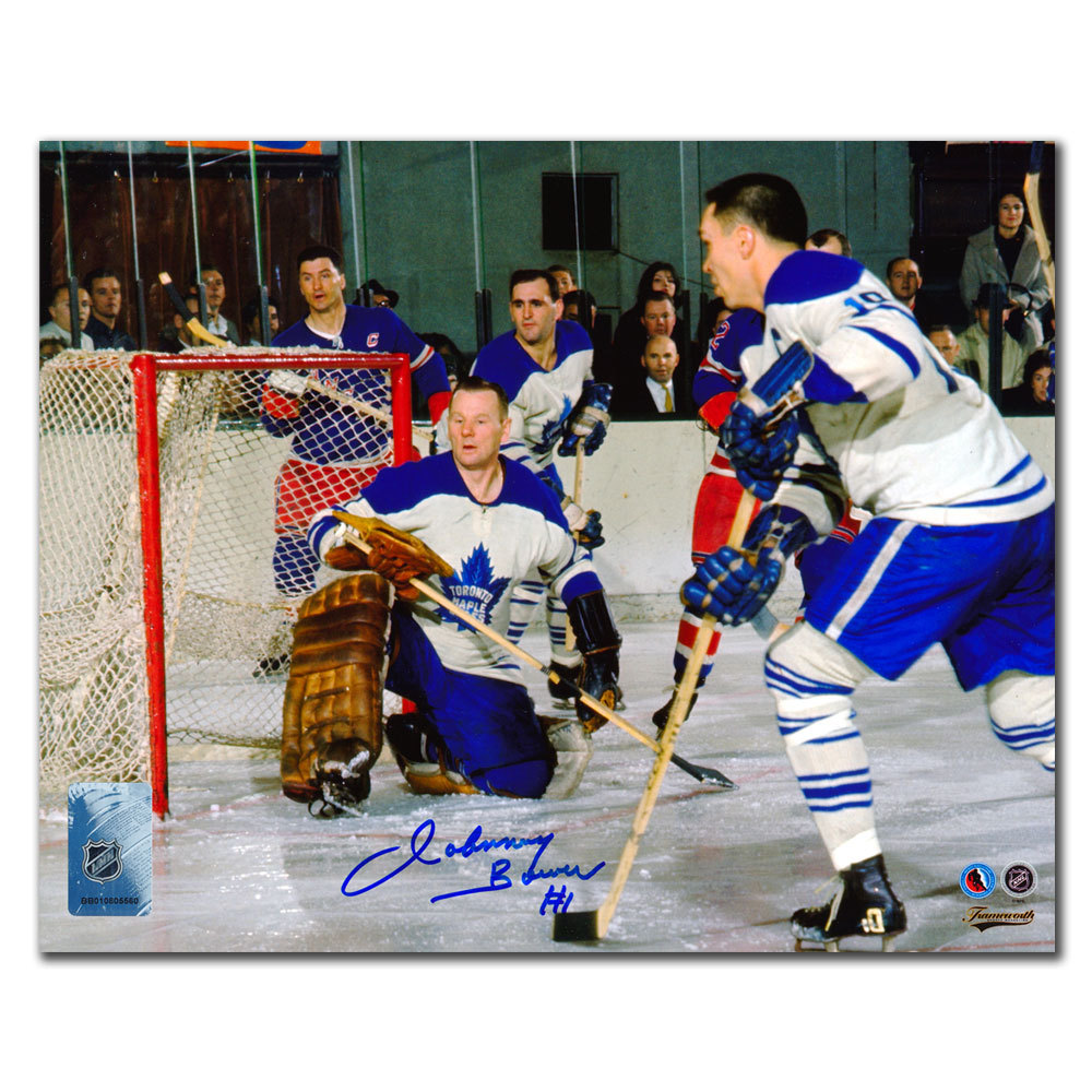 Johnny Bower Toronto Maple Leafs BAUN ARMSTRONG Autographed 8x10