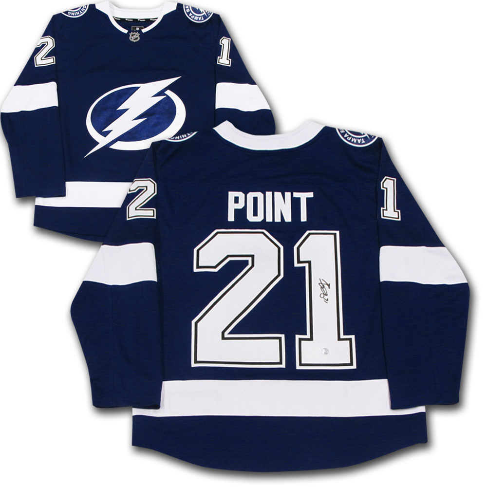 Brayden Point Autographed Tampa Bay Lightning Jersey
