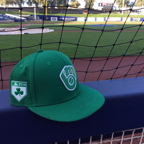 Photo of Corey Knebel 2018 Team-Issued St. Patrick's Day Cap
