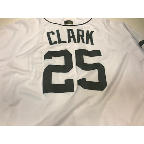 Photo of Game-Used Memorial Day Jersey: Dave Clark