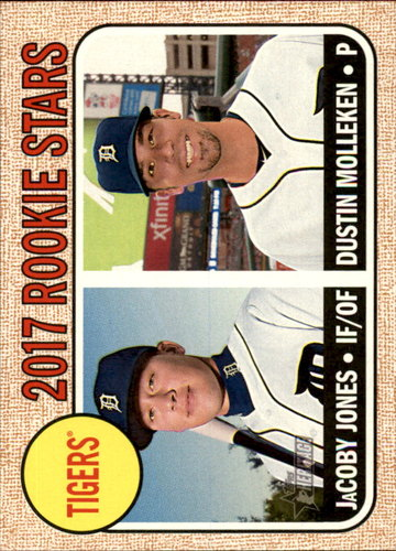 Photo of 2017 Topps Heritage #165 Dustin Molleken RC/JaCoby Jones Rookie Card