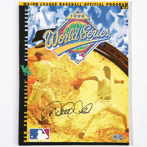 Photo of Derek Jeter Autographed 1996 World Series Program