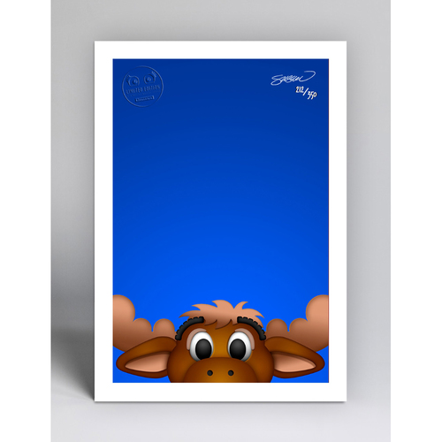 Photo of Mariner Moose - Limited Edition Minimalist Mascot Art Print by S. Preston  - Seattle Mariners