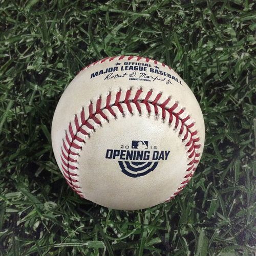 Photo of 2018 Opening Day Game-Ready Baseball STL@MIL 04/02/18