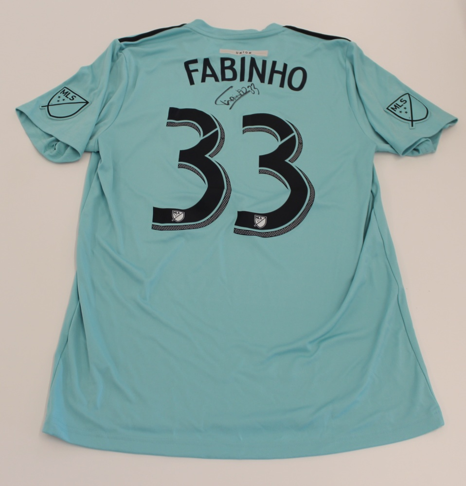 Fabinho Philadelphia Union Used, Signed 2019 Adidas Parley Jersey