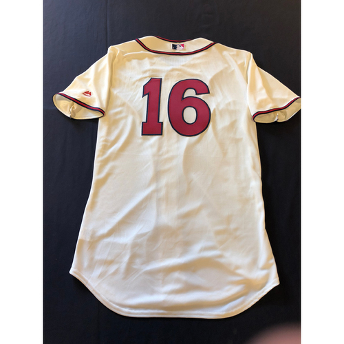Photo of Tucker Barnhart -- Game-Used 1935 Throwback Jersey (Pinch Hitter) -- Rangers vs. Reds on June 15, 2019 -- Jersey Size 44