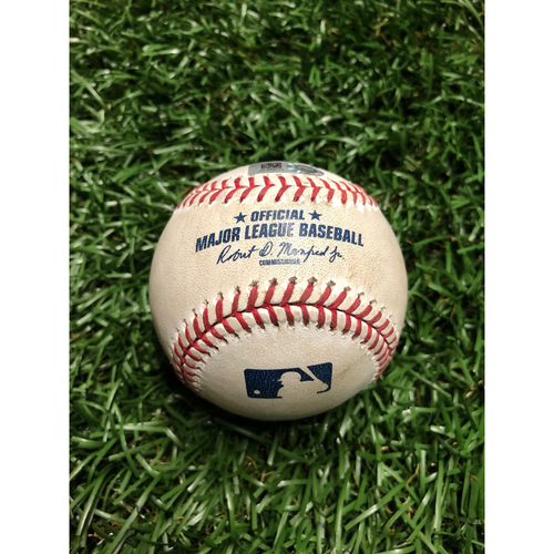 Photo of Game Used Baseball: Gary Sanchez Single off Charlie Morton  July 7, 2019 v NYY