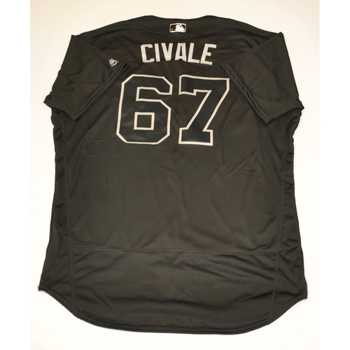 Photo of Aaron Civale Cleveland Indians Game-Used 2019 Players' Weekend Jersey