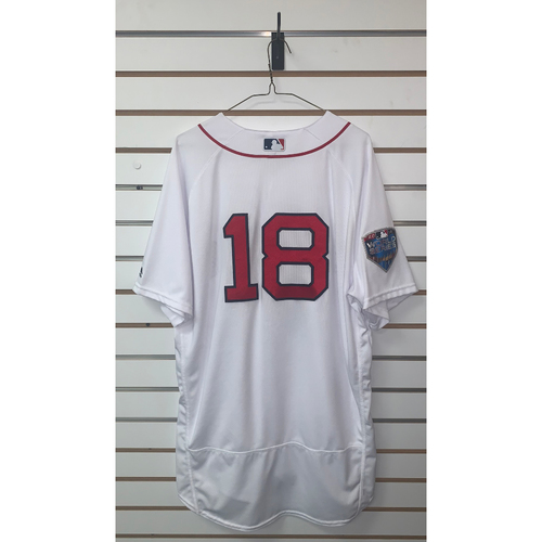 Photo of Mitch Moreland Team Issued 2018 World Series Home Jersey