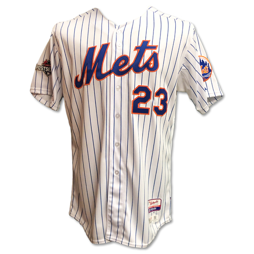 Photo of Michael Cuddyer #23 - Team Issued White Pinstripe Jersey - 2015 Postseason