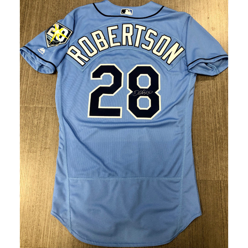 Photo of Team Issued Autographed Jersey: Daniel Robertson