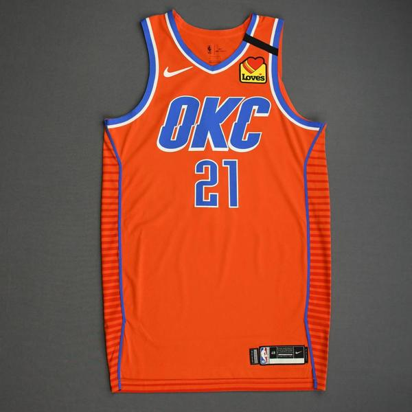 Image of Andre Roberson - Oklahoma City Thunder - Game-Worn Statement Edition Jersey - 2019-20 NBA Season Restart with Social Justice Message