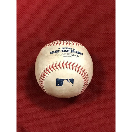 Photo of Game-Used Baseball 8/4/20 Houston Astros at Arizona Diamondbacks: Madison Bumgarner vs. Josh Reddick (Reddick reached on fielder's choice, Yulieski Gurriel scored and Carlos Correa advanced to third on throwing error by Madison Bumgarner)