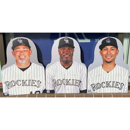 Photo of Colorado Rockies Foundation: NL Silver Slugger Set- Dante Bichette, Eric Young Sr., and Carlos  Gonzalez