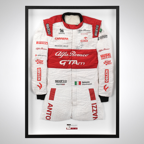 Photo of Antonio Giovinazzi 2020 Signed Race Suit