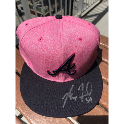 Photo of Max Fried Autographed MLB New Era Pink Cap