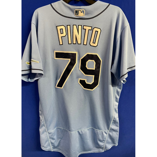 Photo of Game Used 2020 Spring Training Jersey: Rene Pinto - 1 Game - February 24 v BOS