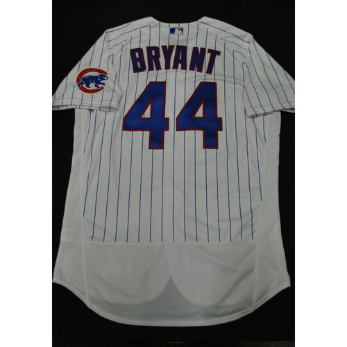 Photo of Hank Aaron Chasing the Dream Foundation: Kris Bryant 2021 MLB All-Star Workout Day BP-Worn # 44 Jersey