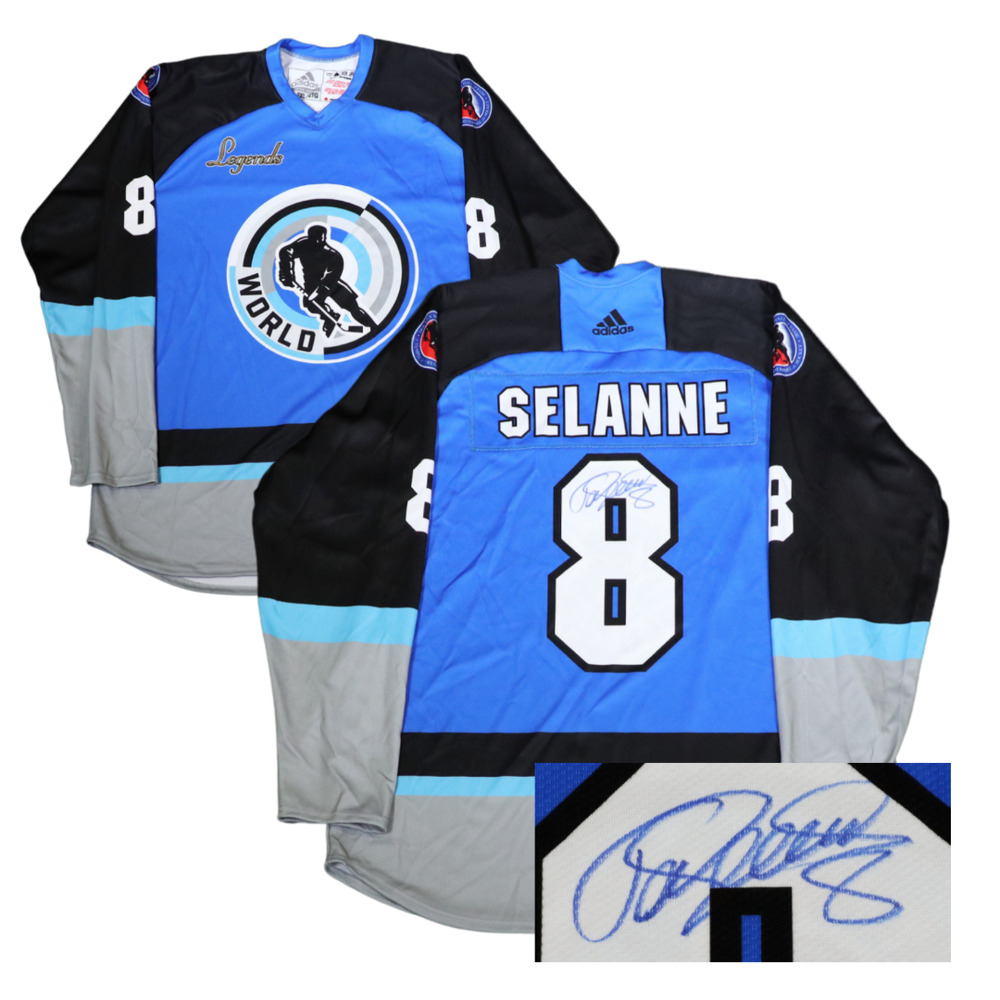 Autographed Teemu Selanne Game-Issued Legends Classic Jersey