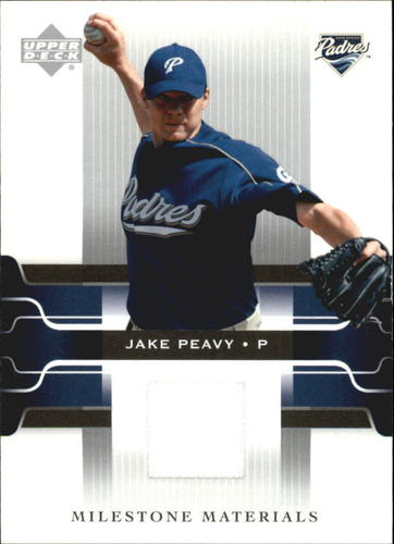 Photo of 2005 Upper Deck Milestone Materials #JP Jake Peavy