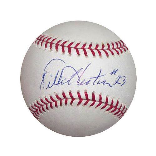Photo of Willie Horton Autographed Baseball