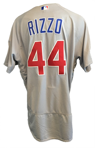 Anthony Rizzo Game-Used Jersey -- NLDS Game 2 -- Rizzo 2-Run HR (1st HR of Postseason) -- Cubs at Nationals -- 10/7/17