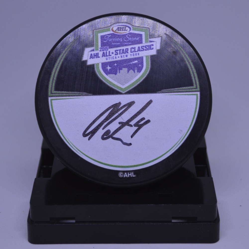 2015 AHL All-Star Classic Souvenir Puck Signed by #3 Alex Petrovic