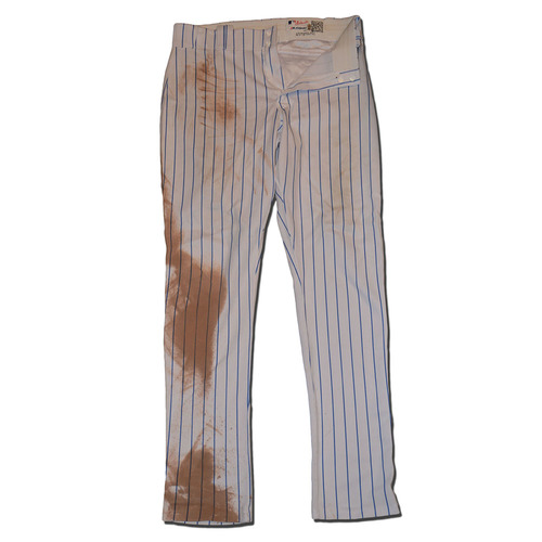 Photo of Jay Bruce #19 - Team Issued White Pinstripe Pants - 2017 Season