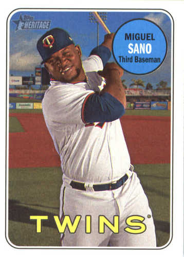 Photo of 2018 Topps Heritage #30 Miguel Sano
