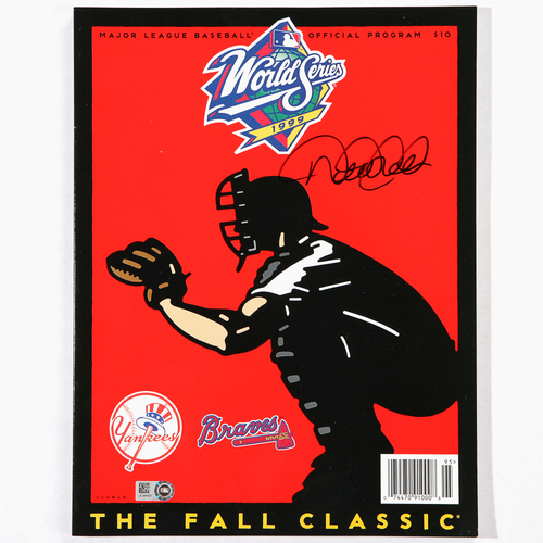 Photo of Derek Jeter Autographed 1999 World Series Program