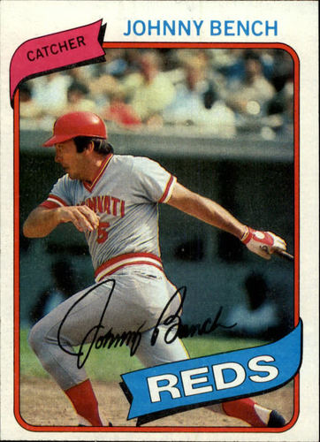 Photo of 1980 Topps #100 Johnny Bench