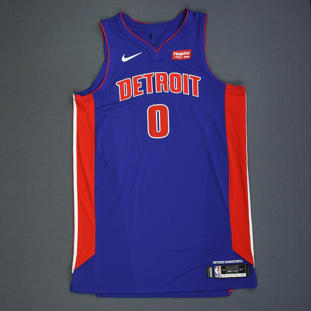 dce9437ad790 Andre Drummond - Detroit Pistons - Kia NBA Tip-Off 2018 - Game-Worn ...