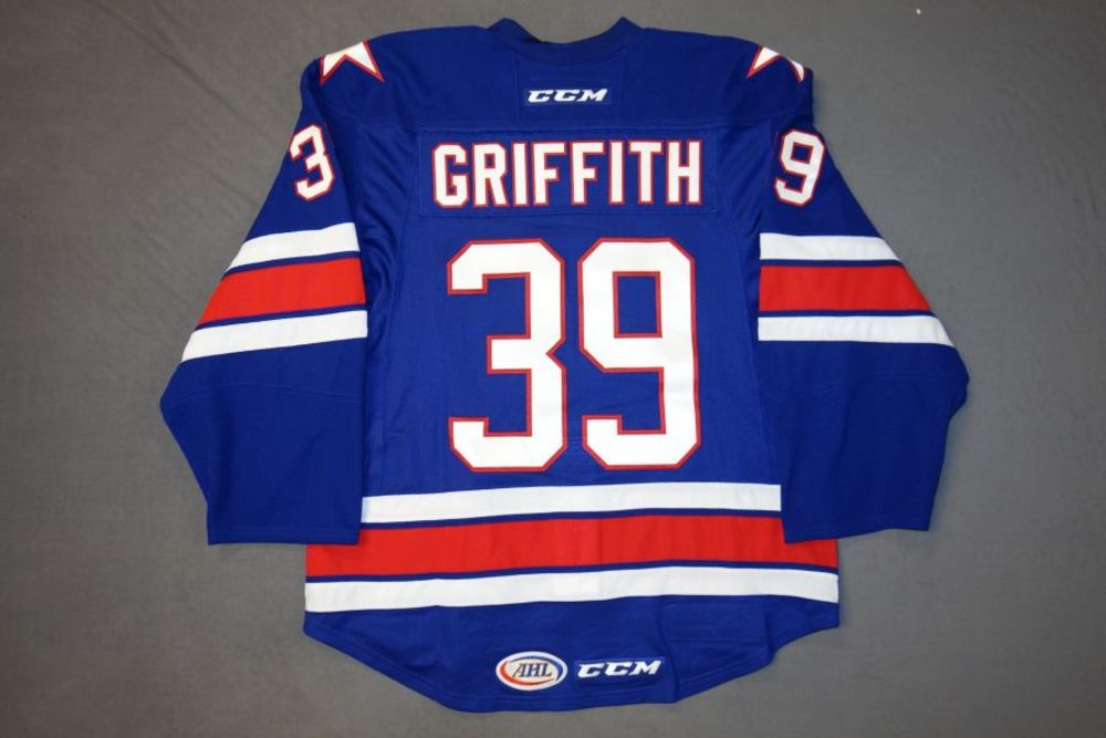 Seth Griffith Game-Worn Rochester Americans Blue Jersey