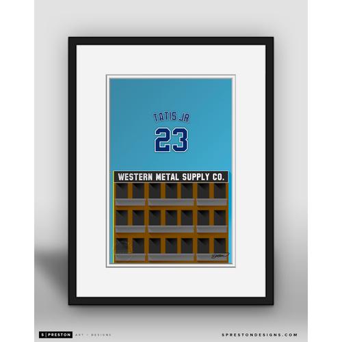 Photo of Minimalist Petco Park Fernando Tatís Jr. Player Series Framed Art Print by S. Preston - Limited Edition