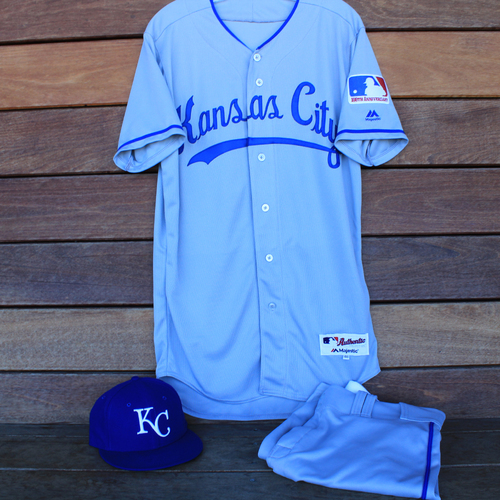 Photo of Game-Used 1969 Throwback Jersey, Pants and Cap: Billy Hamilton (Jersey Size 40 - KC @ WSH  - 7/6/19)