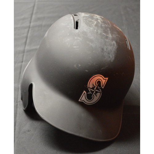 "Photo of Daniel ""THE BABE"" Vogelbach Seattle Mariners Game-Used 2019 Players' Weekend Helmet"