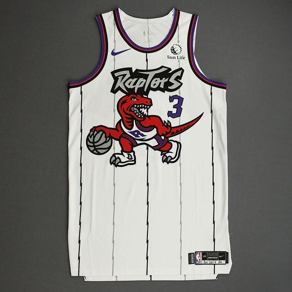Image of OG Anunoby - Toronto Raptors - Game-Worn Classic Edition 1995-96 Home Jersey - 2019-20 Season