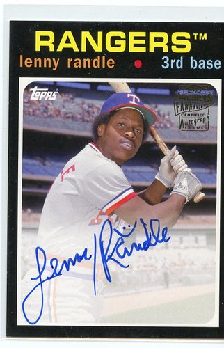Photo of 2017 Topps Archives Fan Favorites Autographs #FFALR Lenny Randle