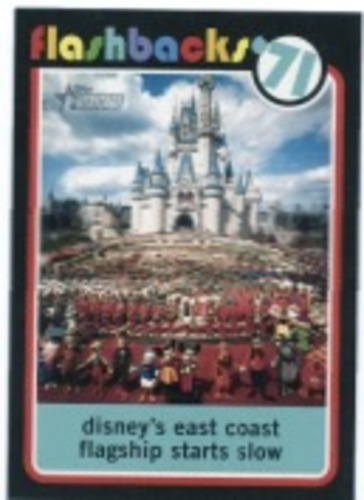 Photo of 2020 Topps Heritage News Flashbacks #NF1 Walt Disney World opens