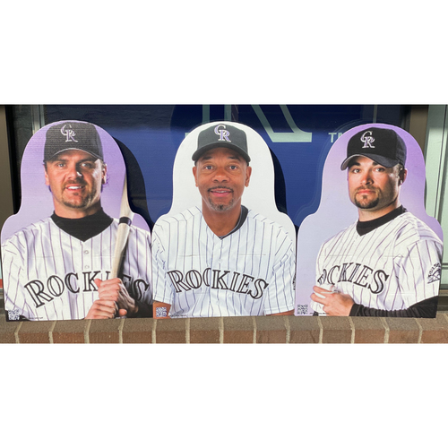 Photo of Colorado Rockies Foundation: NL Silver Slugger Set- Larry Walker, Ellis Burks, and Mike Hampton
