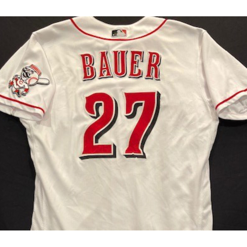 Photo of Trevor Bauer -- 2020 Home White Jersey -- Team Issued -- Size 44