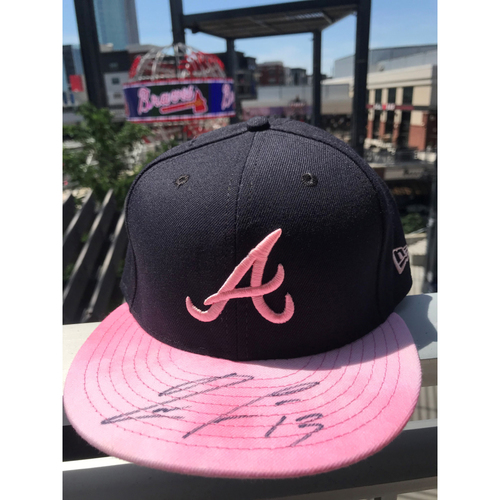 Photo of Ronald Acuna Jr. Autographed MLB New Era Pink Cap