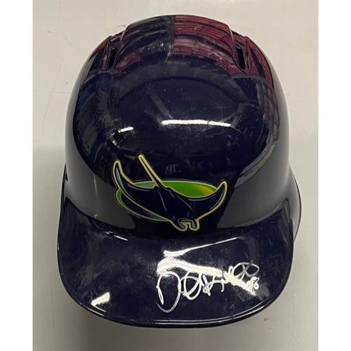 Photo of Rays Baseball Foundation: Team Issued Devil Rays Helmet - Daniel Robertson
